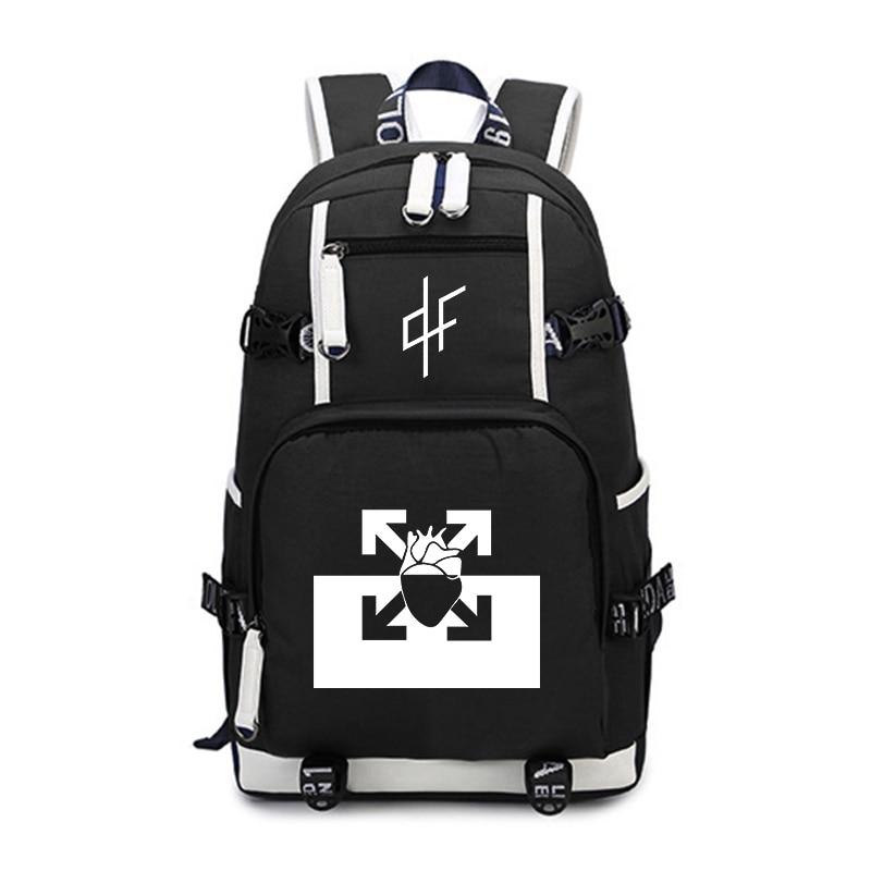 Rapper PNL Au DD Backpack Large Laptop Backpack Fashion School Bags For Teenage Girls Boys Travel Shouder Bags Casual Rucksack