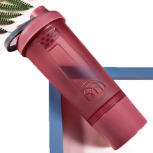 Creative Protein Powder Sports Shaker Bottle for Gym Mixing Whey Portable Water 4 Colors Three-layer Leakproof