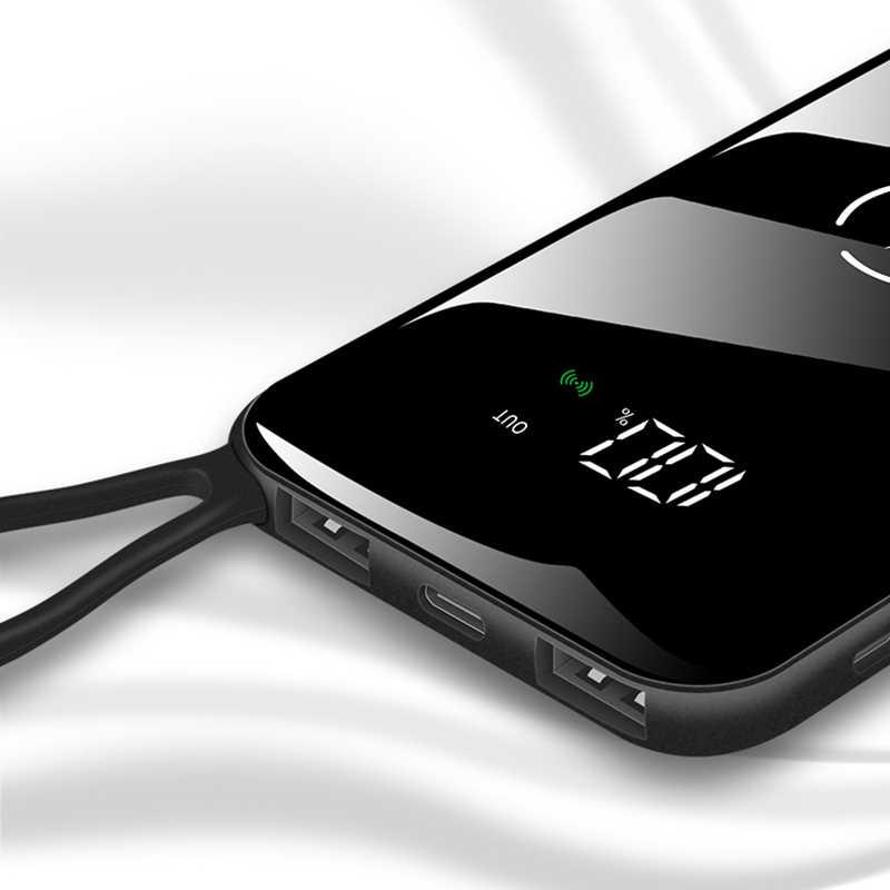 30000 mAh بنك الطاقة اللاسلكية مقاوم للماء المحمولة المزدوجة USB آيفون شاومي هواوي Powerbank شحن سريع بطارية خارجية