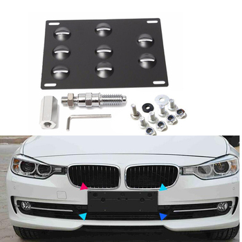 New Arrive Front Bumper Tow Hook License Plate Mounting Bracket Holder for BMW E31 E36 E38 E46 E52 E53 E60 image