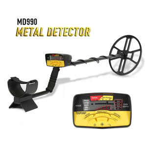 MD990 Portable Underground Metal Gold Detector High Sensitivity Jewelry Treasure Hunting Metal Detecting Tool with LCD Display