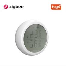 Sensor inteligente de humedad y temperatura de aire, conexión inalámbrica ZigBee, Control inteligente de la presión del aire, con Hub TuYa ZigBee