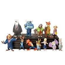 12 шт disney pixar zootopia zootropolis игрушка фигурка Джуди