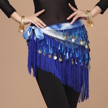 2018 Oriental Coins Belt Women Belly Dance Costumes Accessories Sequin Tassel Hip Scarf dance Bellydance - discount item  25% OFF Stage & Dance Wear