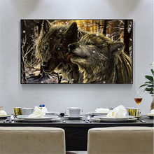 Modern Animal Art Wall Posters Wolf Canvas Painting Wall Art Posters and Prints For Living Room Home Wall Pictures Decor Cuadros modern nordic elegant ballet dancer canvas painting wall art posters and prints for living room wall pictures home cuadros decor