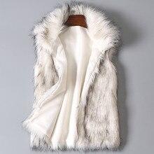 Cardigan Coat Winter Coat Women 2019top Women's Wool Vest Faux Fur Vest Stand Collar Faux Fur Coat Vest Jacket Winterjas R1