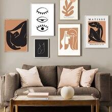 Абстрактная девушка линии тела глаз иллюстрация стены искусства