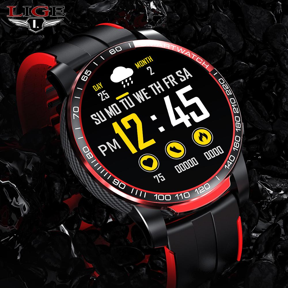 LIGE Men Smart Watch Men Bluetooth Call Waterproof Sports Fitness Watch Health Tracker Weather smartwatch Women For Android Ios 1