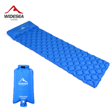 Widesea Colchón inflable ultraligero para exteriores, esterilla con almohada para acampar o hacer senderismo, tapete para dormir con cojín, cama