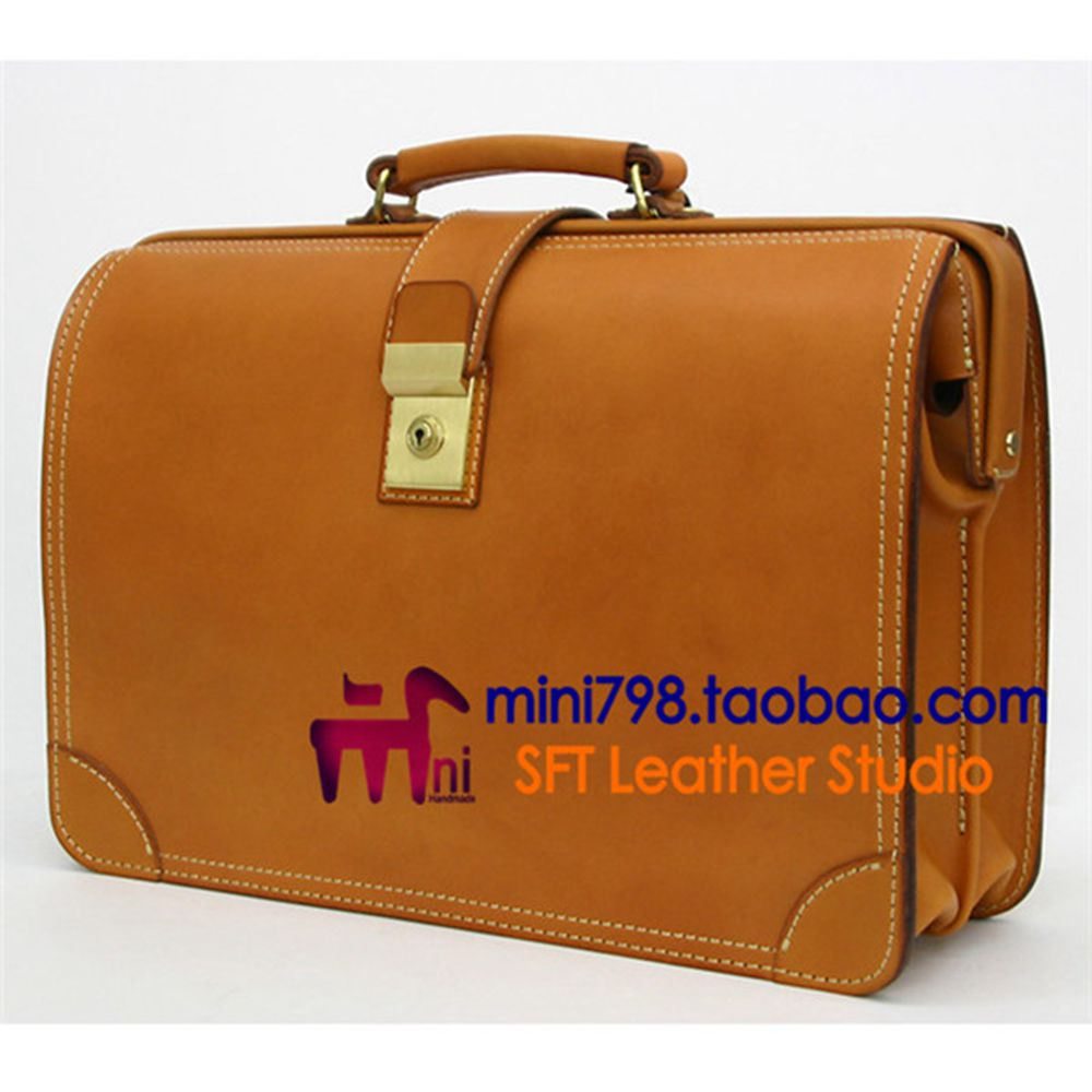 Leather Version Of  Office Commuter Bag DIY Version Of The Type Of Paper Package Pattern Drawings BDQ-15 Version