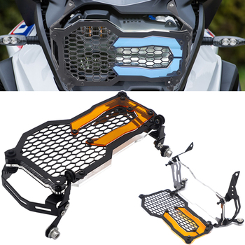For BMW R1200GS LC/ADV R1250GS Headlight Guard Protector Grille Grill Cover R1250GS Adventure Acrylic Lamp Patch Quick Release image