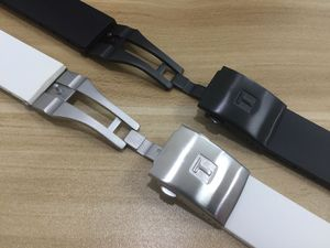 Image 4 - 22mm T024417A Watchband Black Silicone Rubber Strap For T024 T024427