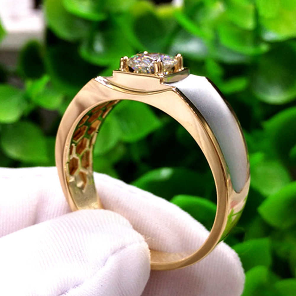 AAA zircon diamonds gemstones Rings for men gold silver color wedding engagement bijoux anillo jewelry accessory band fashion