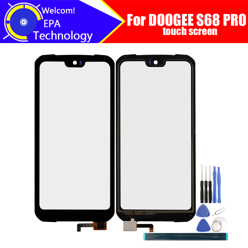 5.9inch DOOGEE S68 PRO Touch Screen Glass 100% Guarantee Original New Glass Panel Touch Screen For DOOGEE S68 PRO+tools+Adhesive