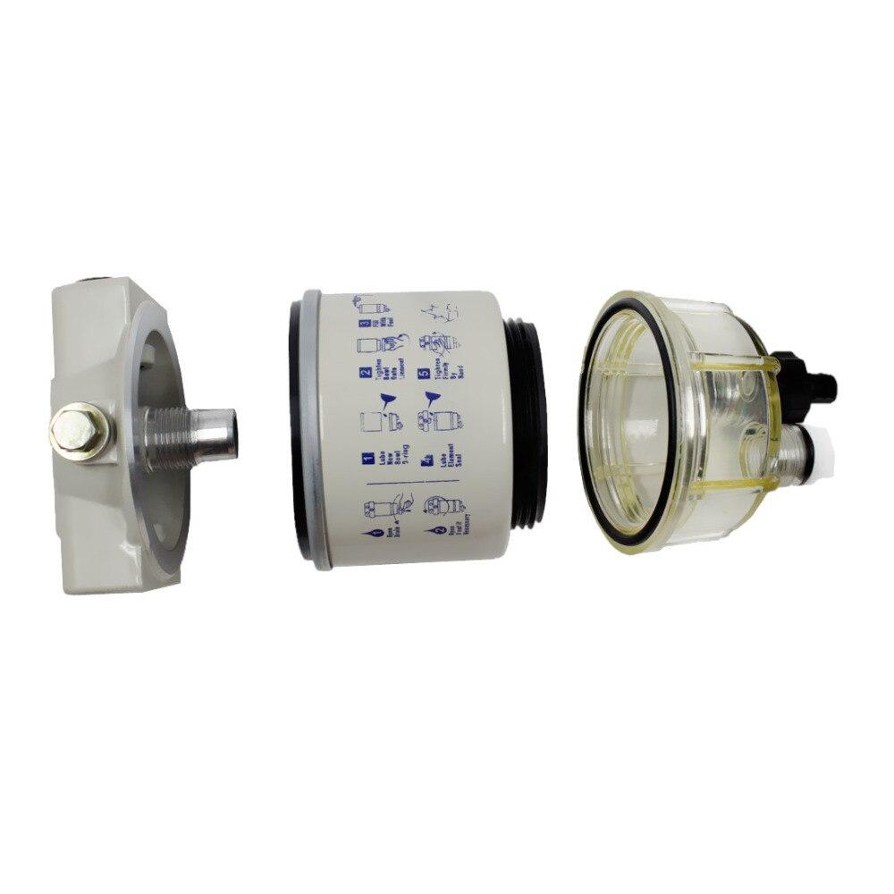 2 pcs R12T carburant/eau séparateur filtre moteur diesel pour Racor 140R 120AT S3240 NPT ZG1/4-19 pièces automobiles complet Combo - 3