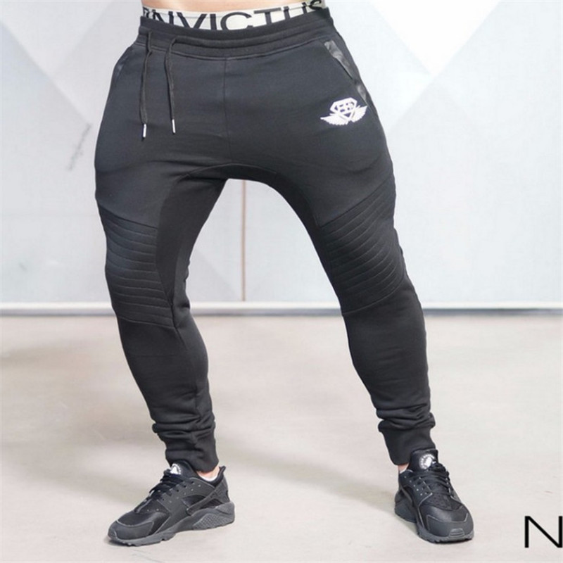 Gym bodyengineers Men Fitness Athletic Pants Slim Fit Pants Trousers Outdoor Fitness Gymnastic Pants