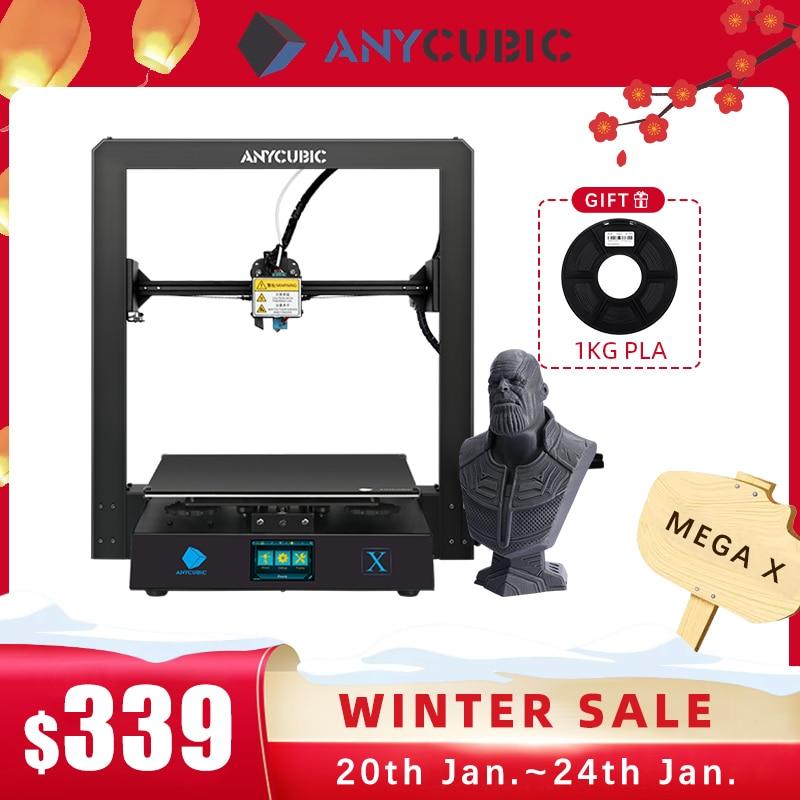 ANYCUBIC i3 Mega X 300*300*305 мм anycubic 3D-принтер FDM большой размер печати Meanwell блок питания Ultrabase impresora 3d
