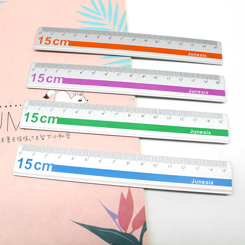 15cm Metal Aluminum Ruler High Quality Straight Ruler Measuring Scale Student Art Drawing Tool Office School Supplies Stationery