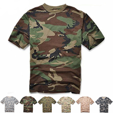 T-Shirt Combat Tactical Camo Hunting-Clothes Military Army Men Tees Dry Outdoor Breathable