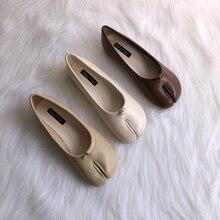 ¡Superventas! Zapatos de piel de cerdo con dedos abiertos, zapatos de suela plana, zapatilla de media zapatilla de mujer perezosa, zapato grande rojo de Red para mujer