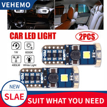VEHEMO 2PCS LED License Plate Light DC12V White 3W Rear Lamp Accessories Number Plate Light FOR BMW FOR HONDA FOR TOYATA(China)
