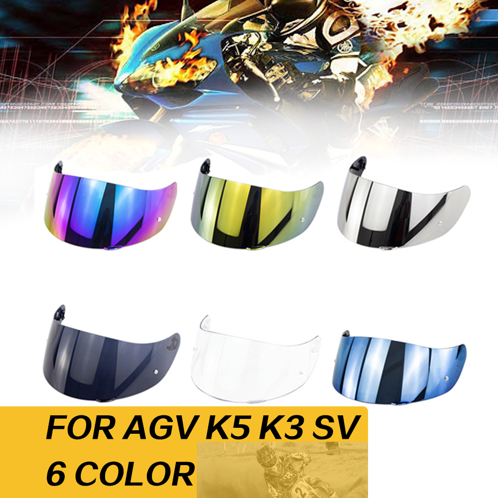Helmet Visor For AGV K5 K3 SV Motorcycle Detachable Helmet Glasses Motorbike Helmet Lens Motocross Full Face Visor