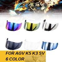 Helmet Visor For AGV K5 K3 SV Motorcycle Detachable Helmet Glasses Motorbike Helmet Lens Motocross Full Face Visor Helmets     -