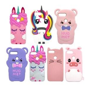 Image 1 - Honor 9 Lite Phone Case For Huawei Honor 9Lite Cover Fundas 3D Cute Pink Horse Unicorn Bear Cat Cartoon Soft Silicon Case Capa
