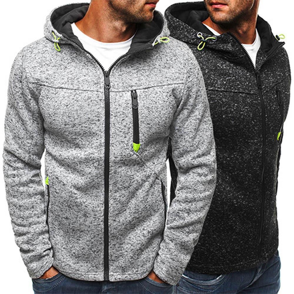 Мужская куртка на молнии, приталенная верхняя одежда и пальто, зима 2019, Модный хлопковый пуловер, мужская куртка, chaqueta hombre, 18SEP12