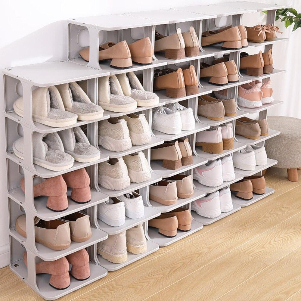 4pcs 6pcs shoes racks shelf large stackable shoes cabinet shelves holds shelf for shoe book home storage shoes organizer
