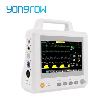 Yongrow medyczny M7 M8 wieloparametrowy monitor pacjenta TFT 7 8 Cal cyfrowy ekran przenośny zestaw do monitorowania stanu pacjenta monitor pacjenta SPO2 i NIBP i PR i TEMP i ekg tanie i dobre opinie CHINA 24*17*23cm M7 M8 Elektroniczne urządzenie do pomiaru tętna Ramię Temperature blood oxygen blood pressure ECG heart rate breathing