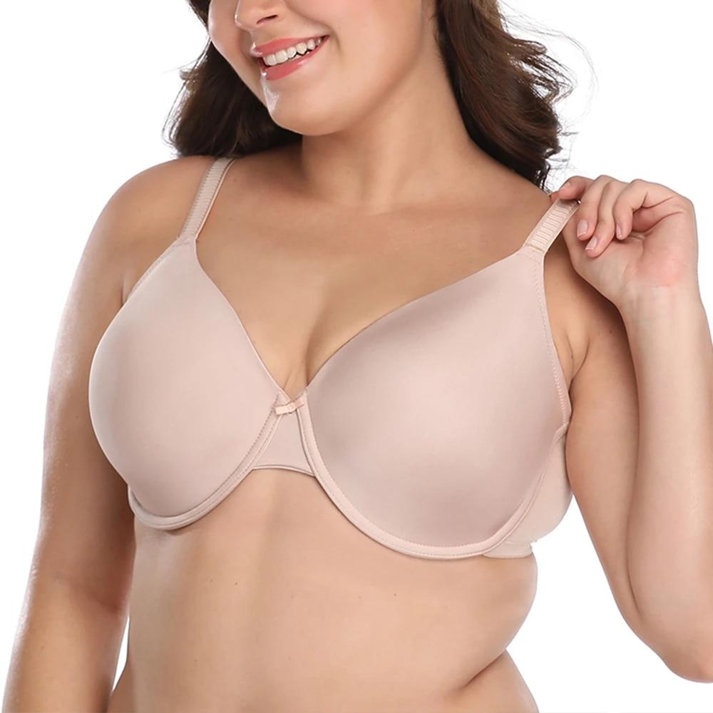 AISILIN Womens Plus Size T-Shirt Bra Full Coverage Underwire Comfort Cushion Strap
