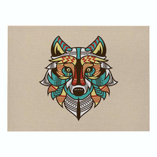 цена на Wolf Placemat 3D Print Placemat Animal Decorative Coaster Tableware Mat Linen Heat Insulation Placemat Kitchen Dinning