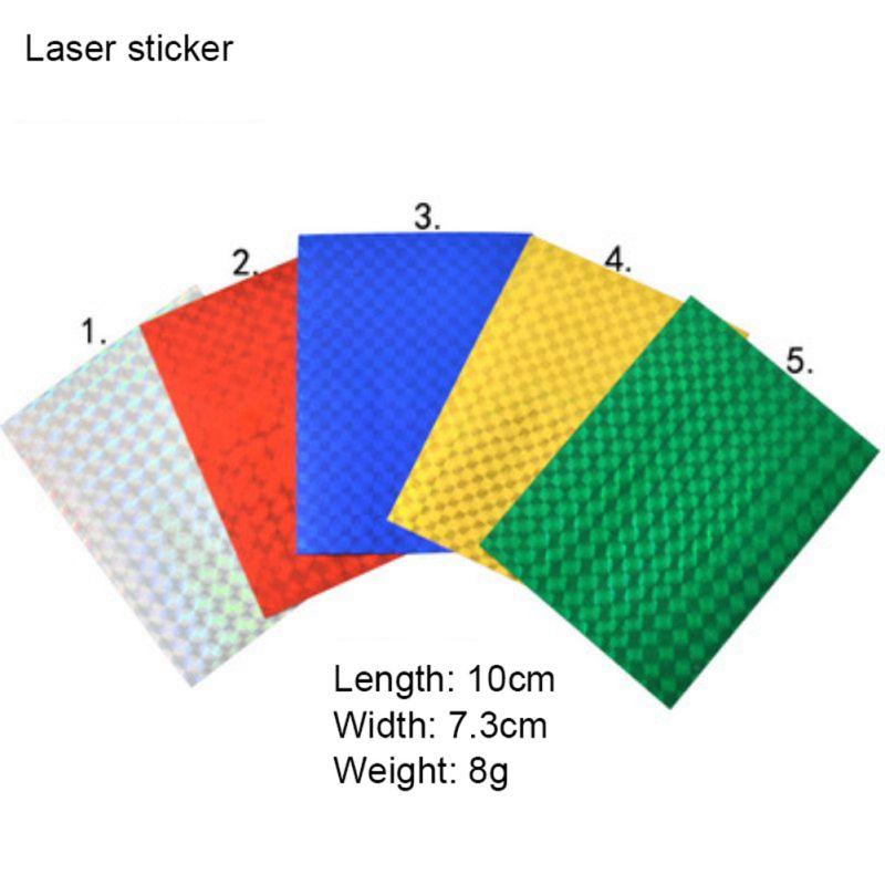 5pcs/set Fishing Lure Stickers 10x7.3cm Handmade Geometric Fish Scale Pattern Artificial Bait DIY Adhesive Flash Sticky Paper