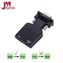 MEUYAG 1080P/720P VGA к совместимому с HDMI конвертер Кабель-переходник аудио Мощность вход для HDTV проектора монитора портативных ПК TV-BOX P
