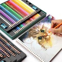 Wooden Colored Pencils 48/72/120/150/200 Professional Oil Color Pencil Set Watercolor Drawing Colored Pencils Wood Colour Pencil