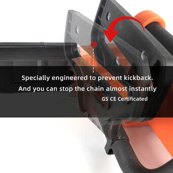 New Arrival 16 Inch AC Chainsaw Professional Electric Chain Saw 220V 10Amp with Kickback Safety Brake Auto Lubricate By Tantool