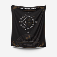 zodiat tapestry decoration boheme muur tapijt bedroom wall decor constellation wall tapestry(China)