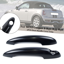 2 Pcs/Set Black Car Door Handle Cover Trim For BMW MINI Cooper S R50 R53 R56 Door Handle Cover Car Accessories стоимость