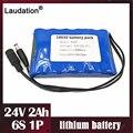 Laudation 24 v 2ah 18650 литиевая батарея постоянного тока 24 V 25,2 V 2000 мА/ч, защитные ремни для небольшой мотор электрического двигателя/светодиодный св...