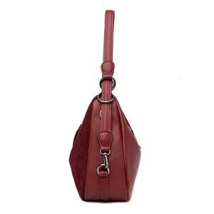 Image 2 - Luxe Handtassen Vrouwen Tassen Designer Beroemde Merk Faux Suede Schouder Crossbody Tassen Dames Casual Grote Zwervers Zakken Vrouwelijke
