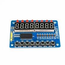 TM1638 LED Display 8-Bit Digital Tube Module 3-Wire 16 Keys 8 Bits Keyboard Scan And KEY LED Display Module For Arduino DIY Kit