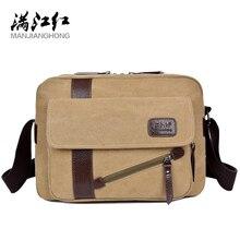 MANJIANGHONG Men's New Canvas Bag High Quality Casual Cross