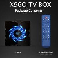 X96Q-decodificador Dispositivo de Tv inteligente con WIFI, reproductor multimedia con Android 8, 9, 10, 4g, 8g, 16g, 4K, 8K, 1080P, H616, cuatro núcleos, IPTV, 16gb, 32 gb, 64gb