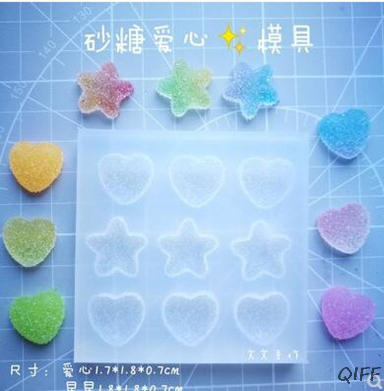 Sugar Love Star Heart Soft Candy Pendant Mold Slilcone Resin Molds Jewelry Tools