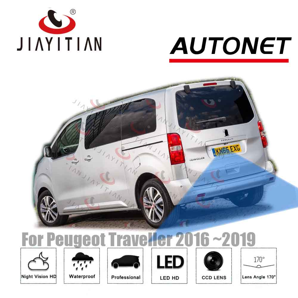 JIAYITIAN Rear View Camera For Peugeot Traveller 2016 2017 2018 CCD Night Vision Backup Cameras Reverse Camera Reserved Hole