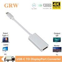 Grwibeou USB-C USB 3,1 TYPE-C zu DP Display Port Konverter Kabel Hub Video AV Kabel Adapter für Macbook Air 12 für Lenovo