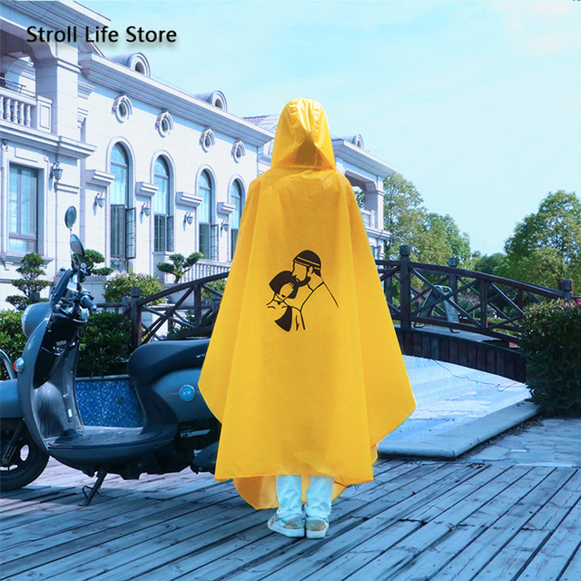 Yellow Raincoat Women Electric Bike Poncho Cute Korean Long Motorcycle Rain Coat Windbreaker Men Jacket Capa De Chuva Gift Ideas 1
