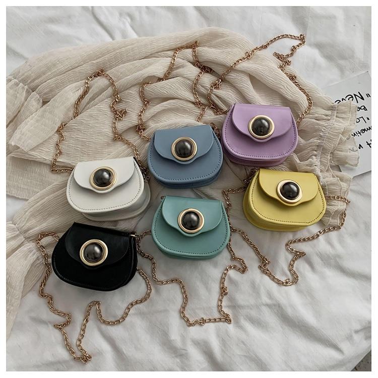 Mini Fashion Pu Soild Color Saddle Bags For Women Small Bag Leather Handbags And Lady Shoulder Bags Cross Body Bag (1)