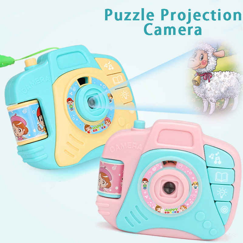 Children DIY Cartoon Projection Simulation Mini Camera Baby Puzzle Projection Kids Educational Toys